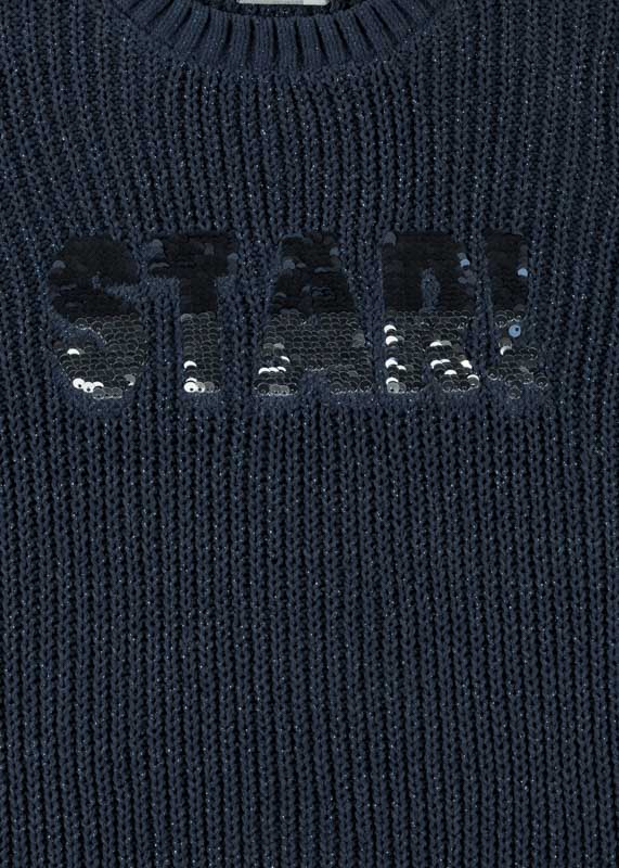 Chenille jumper in blue.