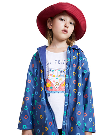 Rainbow flower jacket.
