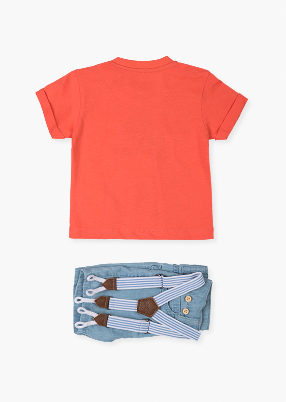 Shorts & short sleeve shark tee set.