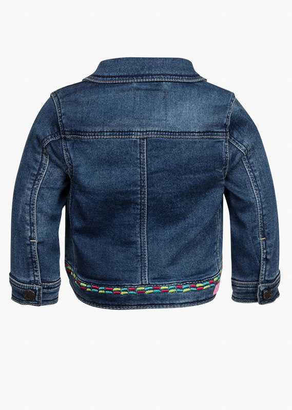 Jacket with embroidered details.