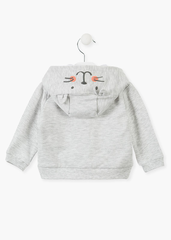 Zip-up sweatshirt in plush.