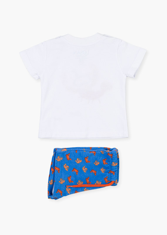 Print shorts & t-shirt set.