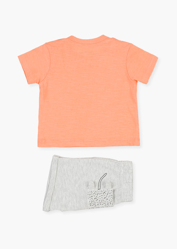 Shorts & t-shirt set in cotton.