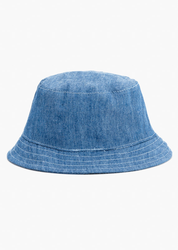 Denim hat.