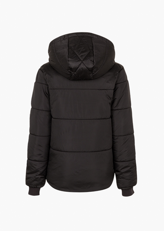 Quilted jacket in black.