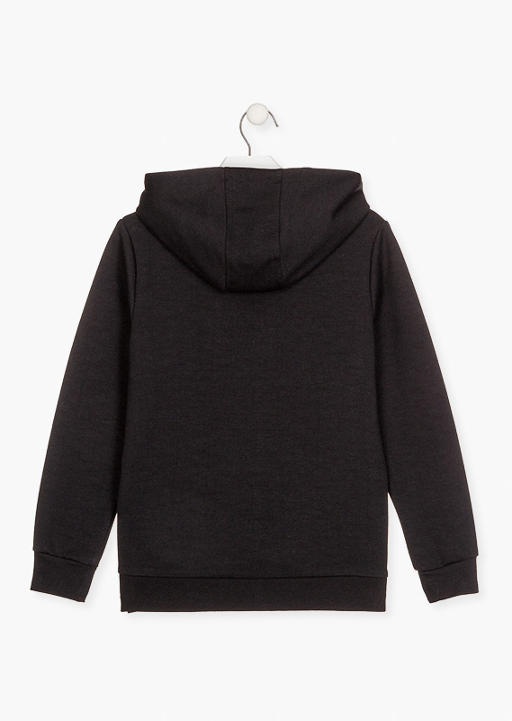Sweatshirt with zippered side vents.