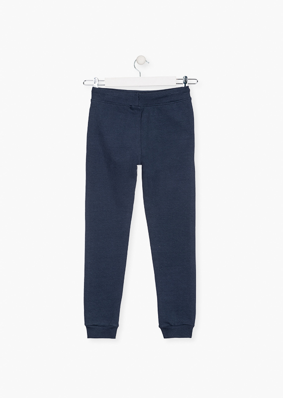 Cuffed trousers in plush.