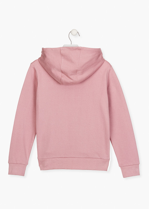 Kangaroo pocket sweatshirt.