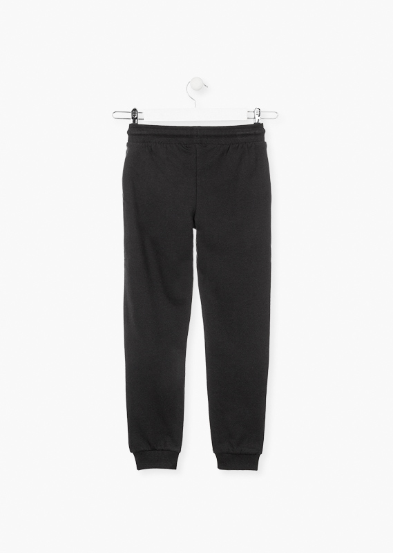 Cuffed trousers in plush with pockets.
