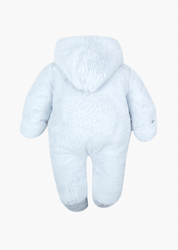 Bear embroidery onesie with a pocket.