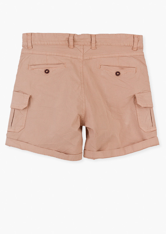 Multi-pocket pair of shorts.