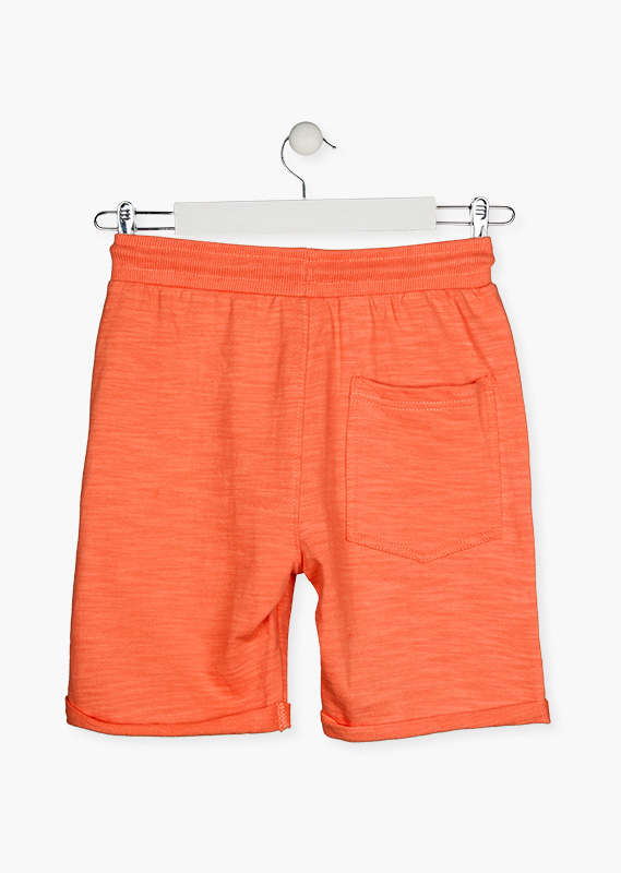 Roll-up shorts crafted from a knit fabric.