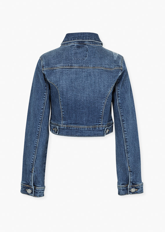 Denim jacket with chest pockets.