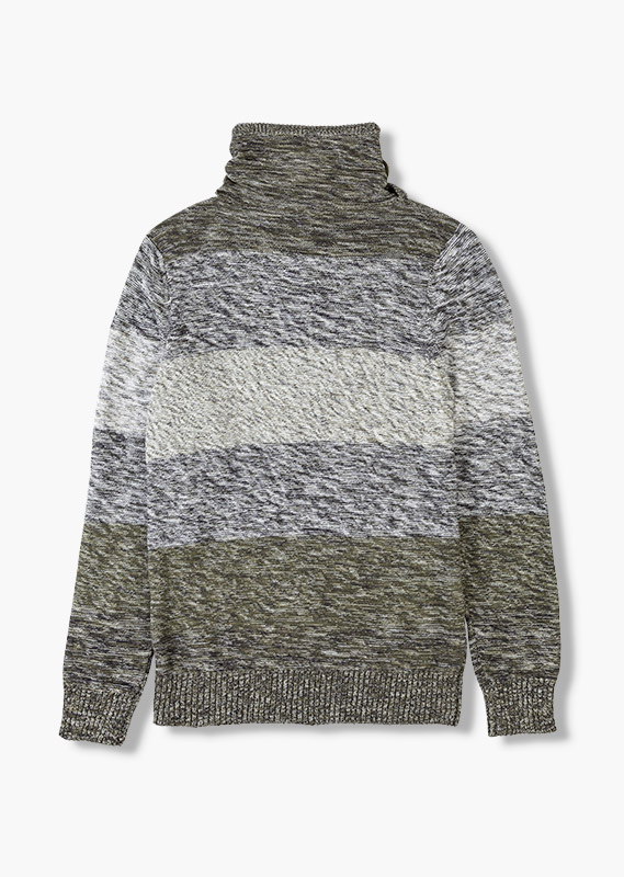 Shawl collar jumper.