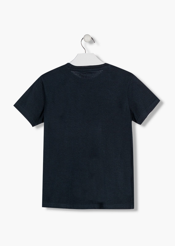 Short sleeve t-shirt in blue.