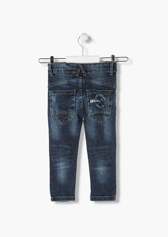Jeans with athletic motif.
