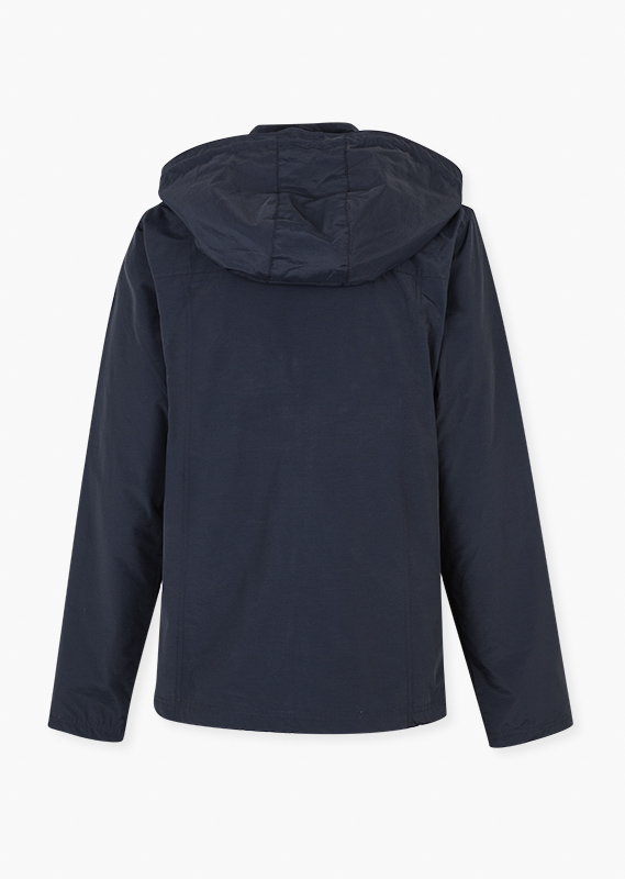 Essential collection jacket with a hood for woman