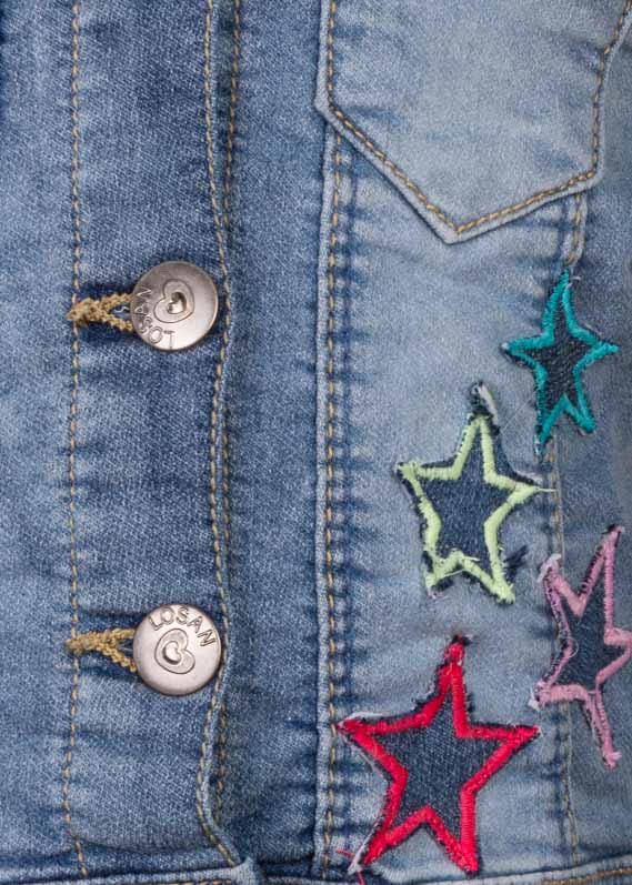 Star patch jacket.