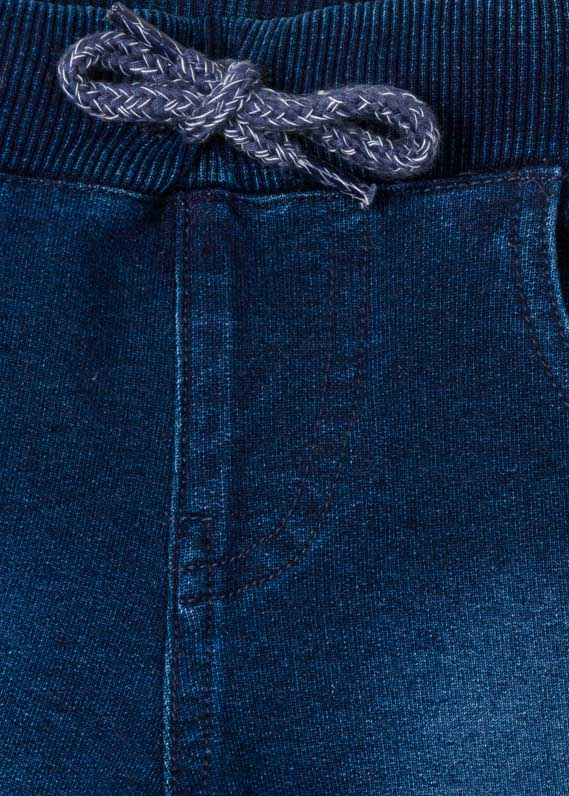 Denim-effect shorts with roll-up detail.
