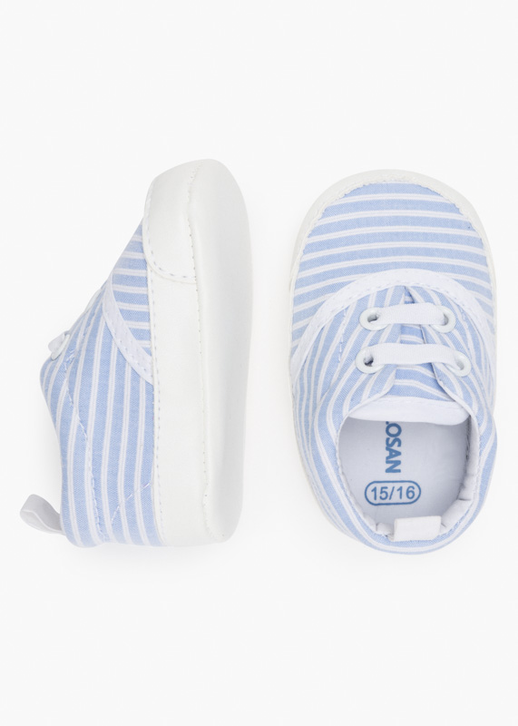 Striped trainers in cotton.