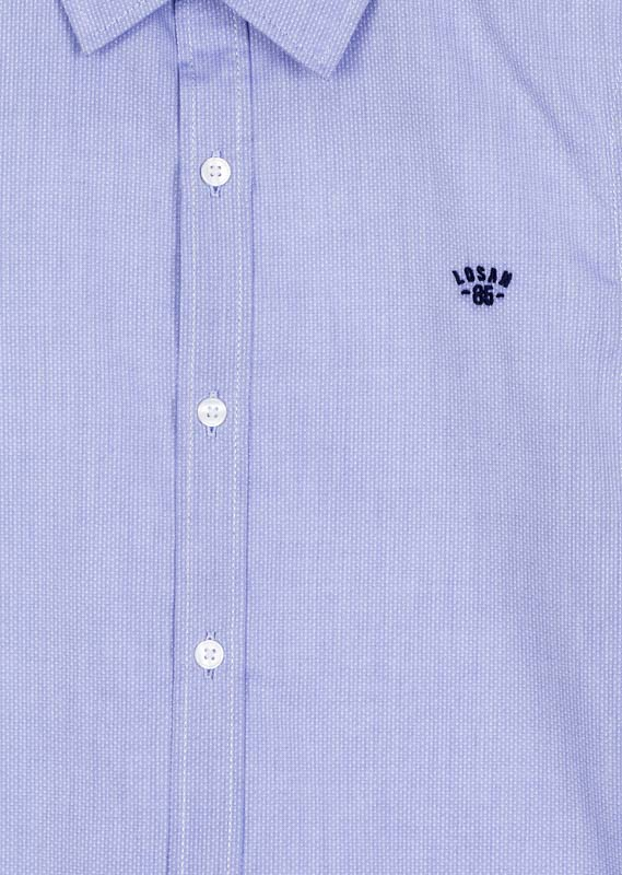 Embroidered branded detail shirt.