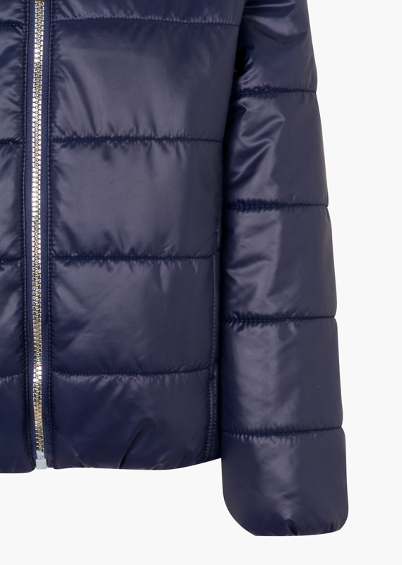Quilted jacket with hood.