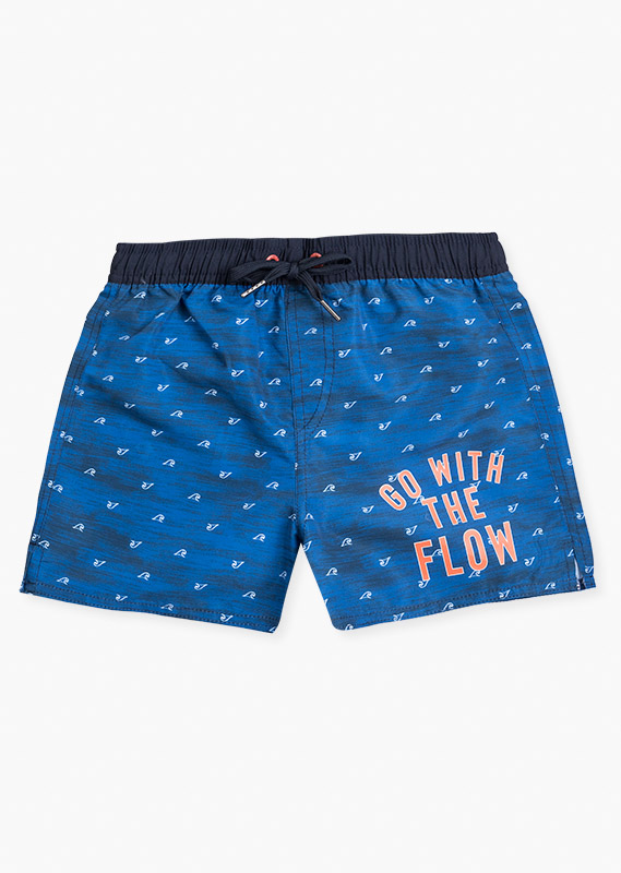 Swim trunks with back pocket with hook&loop closure.