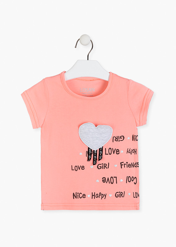 Heart patch top.