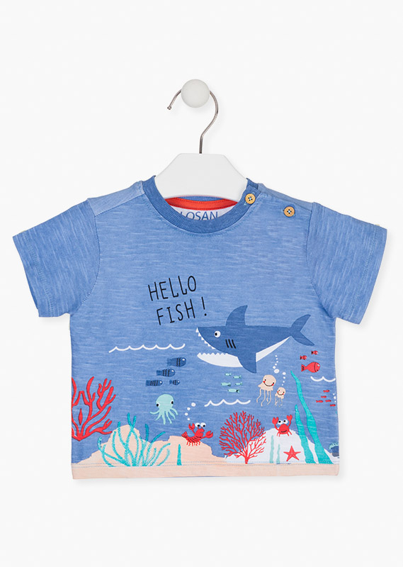 All-over ocean print t-shirt.