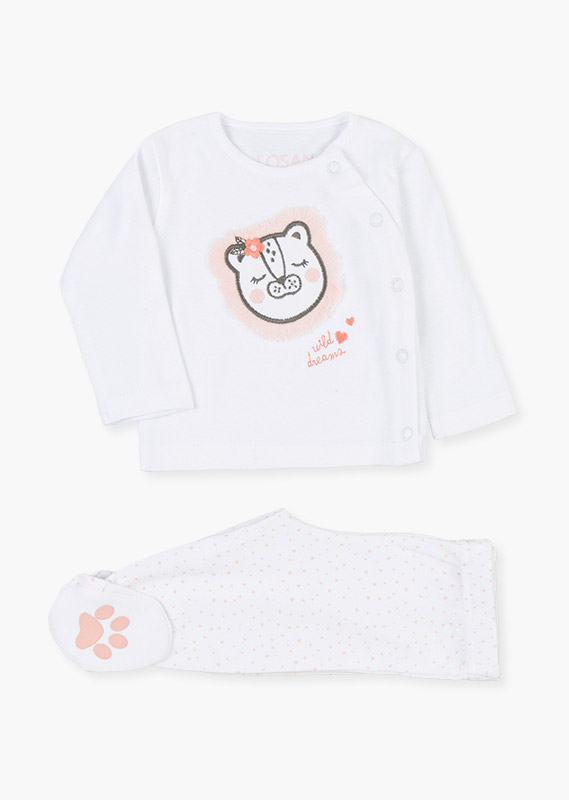 Embroidered lion t-shirt & leggings set.