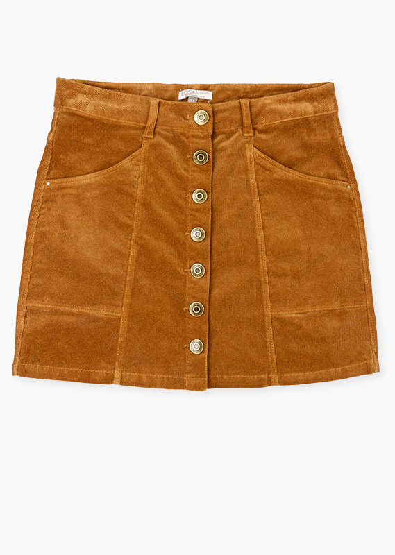 Button front skirt.