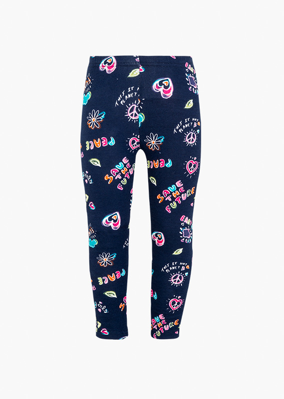 Legging todo estampado multicolor.