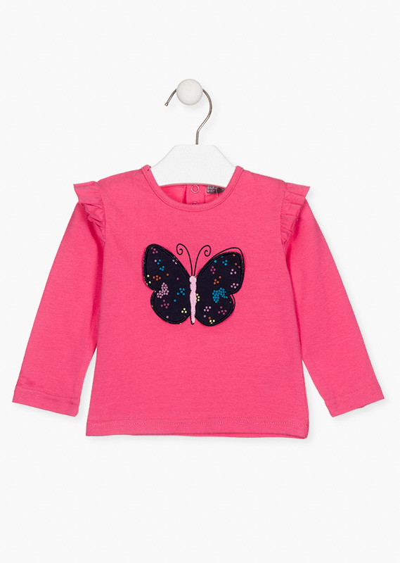 Butterfly appliqué t-shirt.