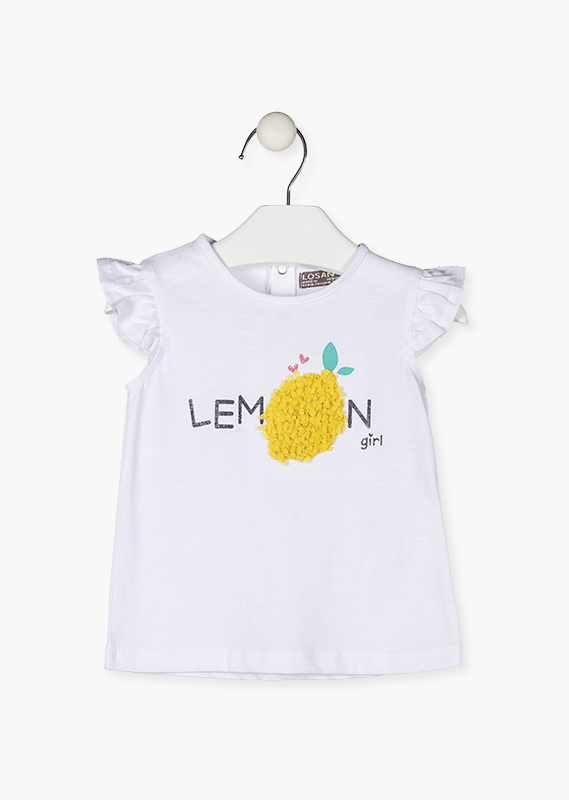 Short sleeve tee with lemon.