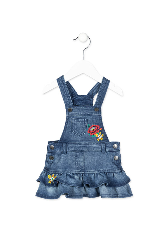 0867fe972 Floral embroidery dungaree.