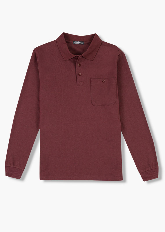 Long-sleeved polo from our range of everyday essentials for man